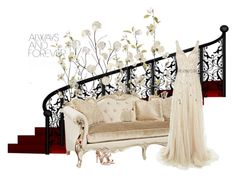 """""""Beige"""" by kingnyfl on Polyvore featuring Universal Lighting and Decor, Pier 1 Imports, Jovani and Aquazzura"""