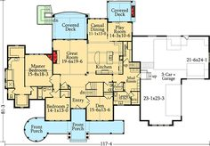 Five Bedroom Craftsman Home Plan - 95007RW | Architectural Designs - House Plans