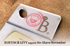 Burton and Levy Beard and Hair combs support No-Shave November and Men's Health. Artisan-made beard combs are great holiday gifts for men.
