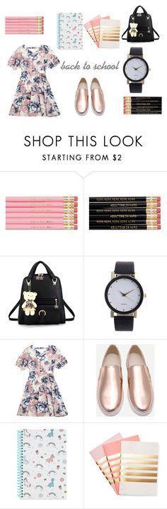 back to school cute by alelee on Polyvore featuring moda, StudioSarah, Forever 21, romwe and zaful