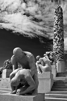 Sculptures of Gustav Vigeland - Oslo - Norway.   I was there!! It is truly amazing!!
