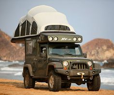 Off-roading camper jeep!