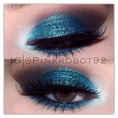Aqua eyeshadow by @M∙A∙C Cosmetics in the inner eye Cappuccino, Chocolate and Onyx eyeshadows by @motivescosmetics in the crease Cancer Glitter by @limecrimemakeup on the lid Lashes are Noir Fairy by @Allison j.d.m j.d.m j.d.m j.d.m House of Lashes  - @Vicky Lee Lee Lee Lee Lee Armendariz- #webstagram