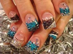 Something I would get done to my nails but really just love how it looks glittery !
