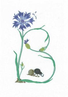 Alphabet Botanique B Embroidery  Keka❤❤❤
