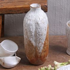 Cambodian Ceramic Bottle Vases - Umber or Tan & White Bottle Vase, Lost Art, Japanese Design, Vases, Design Inspiration, Pottery, Ceramics, Traditional, Shop