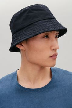 3efe20cb316 BUCKET HAT - Navy - Hats - COS