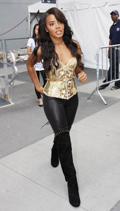 Angela Simmons at Pastry's salute to the troops