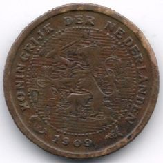 Netherlands 1/2 Cent 1909