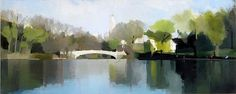 I love this style! Lisa Breslow  Central Park, Bow Bridge, 2012  Oil and pencil on panel $9,200