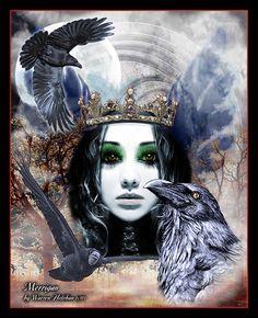 Morrigan, the raven goddess waits and watches by brwarren.deviantart.com on @DeviantArt
