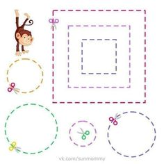 Kids Crafts Coloring Pages: Cut and Paste Worksheets for Preschool Cutting Activities, Preschool Learning Activities, Kindergarten Coloring Pages, Kindergarten Worksheets, Printable Preschool Worksheets, Worksheets For Kids, Learning English For Kids, Kids Learning, Cut And Paste Worksheets