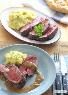 Te enseñamos a preparar de manera sencilla la receta de chateaubriand de ternera. Tiempo de elaboración, ingredientes, fotos paso a paso. Receta de carne