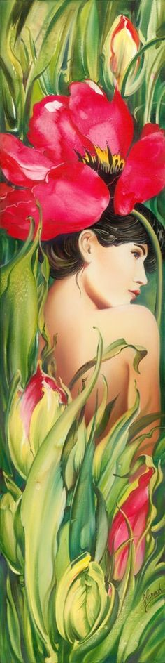 Tulip - from - Behind The Curtain Of Colours  http://www.behance.net/HannahArt - Anna Ewa Miarczynska