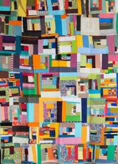 Modern day crazy quilt.  Love scrappy quilts.  Denise Schmidt