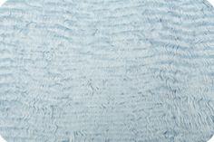 Wavy Mongolian Fur Dusty Blue