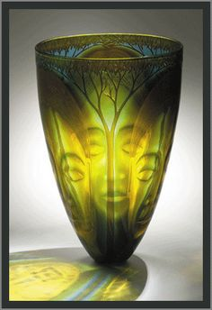 Kevin Gordon Australian Glass Artist Titled  - DEEP FOREST 2004 Amazing piece