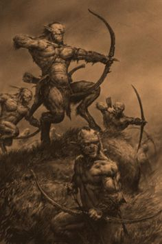 Ungors are the lowest in the Beastmen hierarchy, bullied by their stronger counterparts but still used in battle as skirmishers and ambush forces. Fantasy Battle, Fantasy Races, High Fantasy, Fantasy Rpg, Fantasy Artwork, Warhammer Fantasy Roleplay, Satanic Art, Fantasy Forest, Sword And Sorcery
