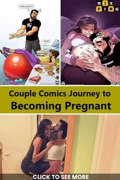 pencil drawings - Yehuda Devir Shares Their Struggle To Have A Baby In Comics Cute Couple Comics, Couples Comics, Couple Cartoon, Pregnancy Images, Pregnancy Jokes, Funny Facts, Funny Memes, Yehuda Devir, Relationship Comics