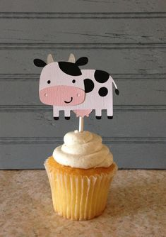 Items similar to Farm Animals Cupcake Toppers on Etsy