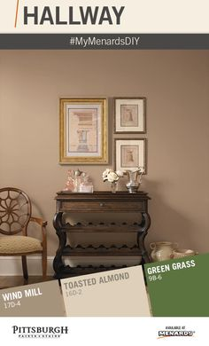 """Do you have a hallway, corridor or entryway that needs to be revamped with a fresh coat of paint? Use these paint color ideas, advice, tips and tricks to tackle a Hallway Makeover! Visit the """"Simple Projects Great Results"""" display in your local Menards for more decorating ideas & to browse Pittsburgh Paints & Stains' Grand Distinction paint colors! Share your project with us using #MyMenardsDIY . We want to see your room makeovers & paint color choices!"""