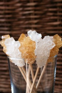 How to Make Rock Candy With Brown Sugar How To Make Rocks, How To Make Crystals, Isomalt, Sugar Crystal Science Project, Make Rock Candy, How To Make Candy, Rock Candy Sticks, Sucre Candi, Home Made Candy