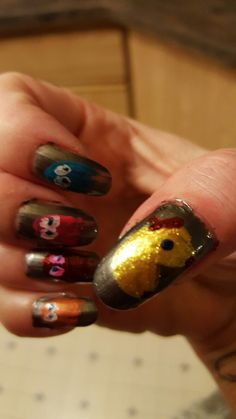 Messy but ms. Pac man nails