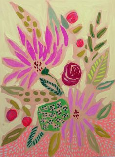 Lulie Wallace Art — 9x12 Flowers for Bailey