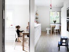 modern finish home_wood_white_vivid colors_kitchen