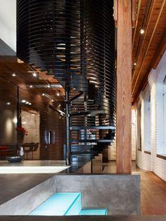 ღღ Toronto-based studio Johnson Chou designed the interior of this penthouse situated in the Candy Factory Lofts in Toronto, Ontario, Canada.