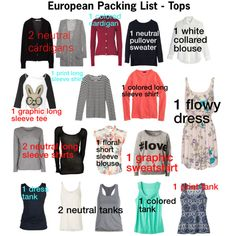 how to pack for europe in july