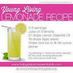 Young Living Essential Oils:  Lemonade Recipe