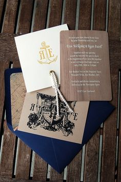 Get on board! Nautical Wedding Invite #inspiration #Wedding #invitations