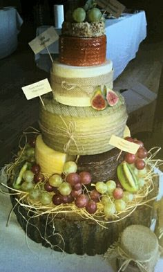 Today's lovely cheeses wedding cake