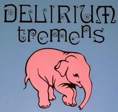 Belgian beer Delirium Tremens