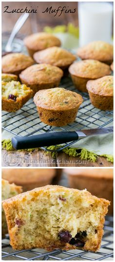 These zucchini muffins are soft tasty. Perfect for a snack or breakfast on the go! @natashaskitchen