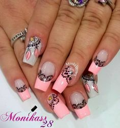 @Sully Wow Nails, Pink Nails, Cute Nails, Pretty Nails, Fabulous Nails, Perfect Nails, Bright Colored Nails, Summer Gel Nails, American Nails