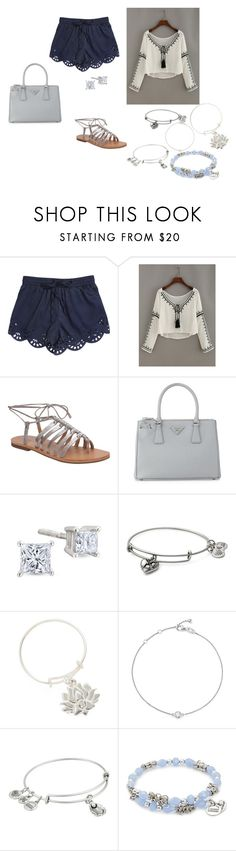 """summer"" by adrianagonzalez-t on Polyvore featuring Lucky Brand, Prada, Alex and Ani and Bloomingdale's"