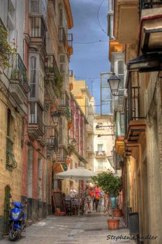Street of Cadiz, Andalusia_ Spain