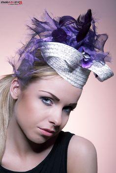 Ultraviolet- straw with violet embellishment
