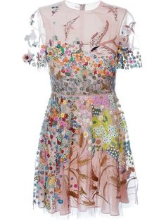 Shop Valentino floral embroidered dress in Stefania Mode from the world's best independent boutiques at farfetch.com. Shop 400 boutiques at one address.