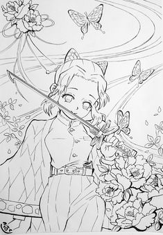 Cute Coloring Pages, Coloring Pages To Print, Coloring Books, Manga Girl, Manga Anime, Anime Art, Drawing Sketches, Art Drawings, Anime Lineart