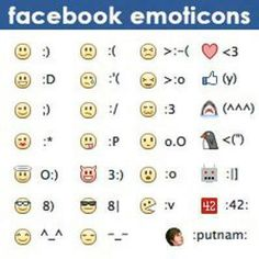 Emoticons for FB posts & comments! Le Emoji, Facebook Emoticons, O 8, Le Web, For Facebook, Facebook Quotes, Things To Know, Good To Know, Helpful Hints
