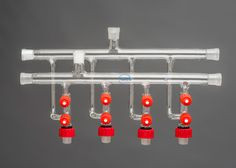 Double Schlenk Line with 4 Bottom Ports (No Accessories)
