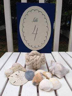Monkey Knots - Table Numbers - Nautical Wedding