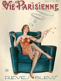 hoodoothatvoodoo:  La Vie Parisienne January 1929 Illustration by Georges Leonnec