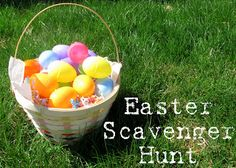 For the Easter scavenger hunt,