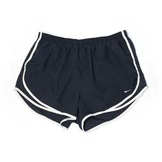 Pre-owned Nike Athletic Shorts Size 12: Navy Blue Women's Activewear