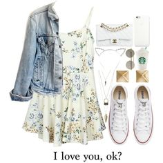 I love you, ok? by sunshinegirl-11 on Polyvore featuring мода, Levi's, Converse, Chanel, Charlotte Russe, Le Specs, Candie's and SO