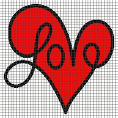 Love Script Heart - (Graph AND Row-by-Row Written Crochet Instructions) - 05- <p>This crochet graphghan pattern is 215 x 215 squares and comes with the written row-by-row instructions as well as the graph. You do NOT have to know how to follow a graph to crochet this! There are also tips included to help you with your project. Color names are <em>suggestions only</em> and do not refer to any particular brand of yarn. The size of the blanket will depend on your gauge/hook size and yarn. Due…